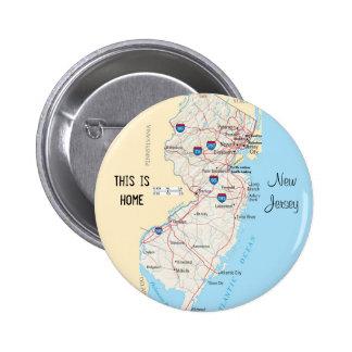 New-Jersey Runder Button 5,7 Cm