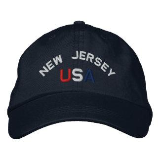 New-Jersey USA stickte Marine-Blau-Hut Besticktes Cap