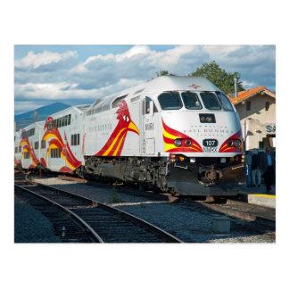 New Mexiko-Schienen-Läufer ausdrücklich in Santa Postkarte