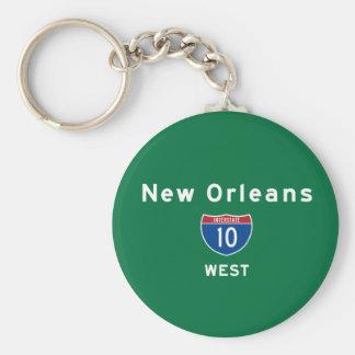 New Orleans 10 Standard Runder Schlüsselanhänger