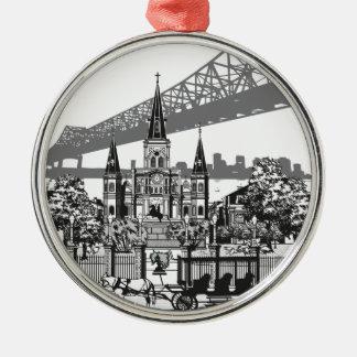 New Orleans Louisiana Silbernes Ornament