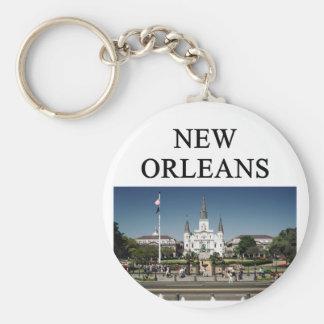 NEW ORLEANS Louisiana Standard Runder Schlüsselanhänger