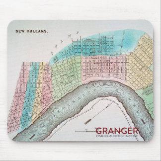 New- Orleanskarten-Mausunterlage Mousepad