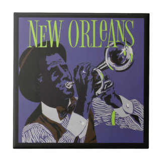 New- Orleansmusik-Keramikfliesen Fliese