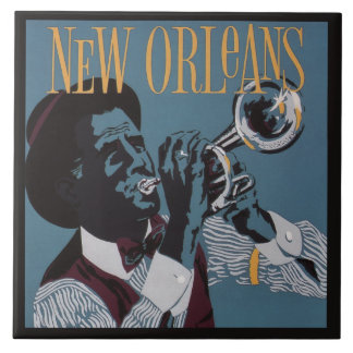 New- Orleansmusik-Keramikfliesen Große Quadratische Fliese