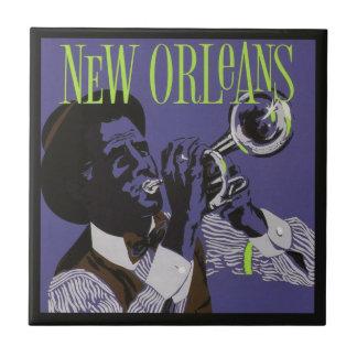 New- Orleansmusik-Keramikfliesen Kleine Quadratische Fliese