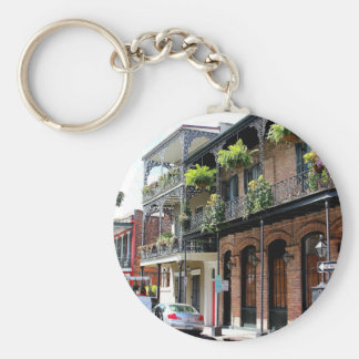 New- Orleansstraßen-Szene Standard Runder Schlüsselanhänger