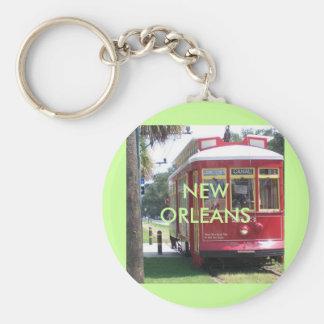 New OrleansStreetcar Standard Runder Schlüsselanhänger