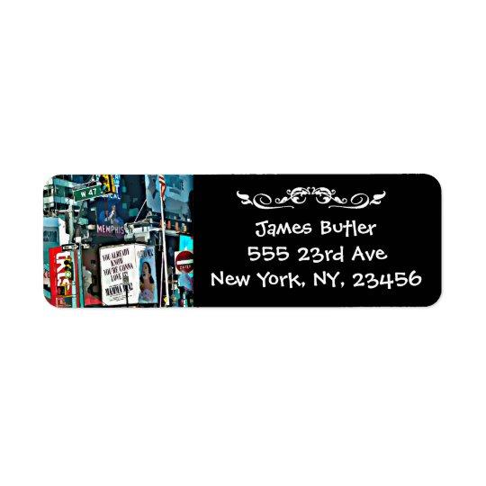New- York CityPostsendung-Adressen-Etikett Rücksendeetikett
