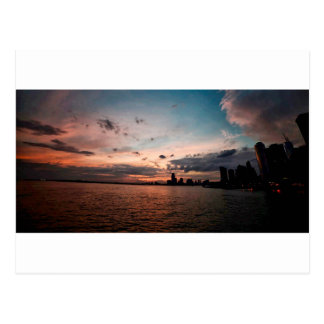 New- York CitySkyline am Sonnenuntergang Postkarte