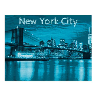 New- York CitySkyline im Blau Postkarte