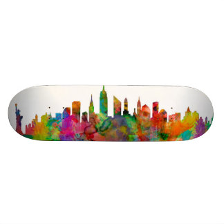 New- York CitySkyline Personalisiertes Skateboard