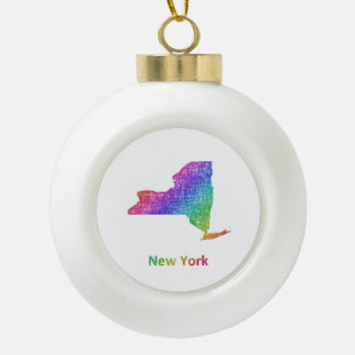 New York Keramik Kugel-Ornament