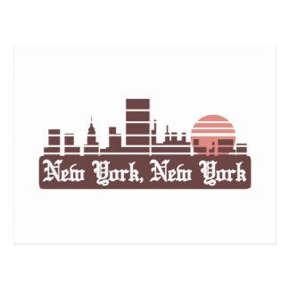 New York Linesky Postkarte