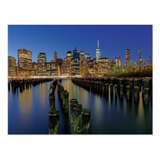 New York Skyline Postkarte