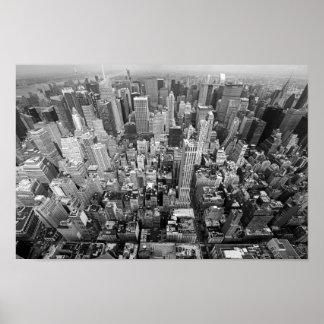New York von oben Poster