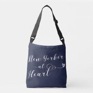 New Yorker an der Herz-Taschen-Tasche, NYC Tragetaschen Mit Langen Trägern