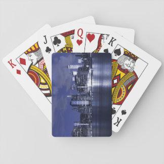 New- YorkSkyline gebadet im Blau Spielkarten