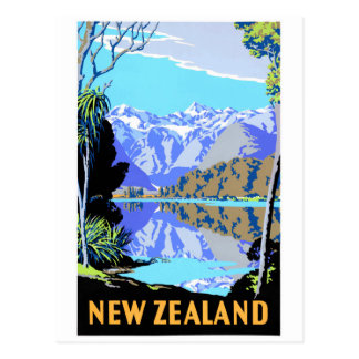New Zealand See Matheson Vintages Reise-Plakat Postkarte