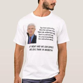 Newt Gingrich, Auge von Newt und Zehe des T-Shirt