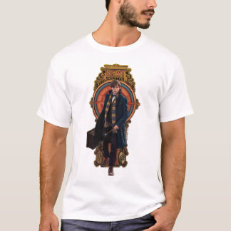 Newt Scamander gehende Kunst Nouveau Platte T-Shirt