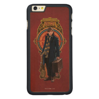 NEWT SCAMANDER™ stehende Kunst Nouveau Platte Carved® Maple iPhone 6 Plus Hülle