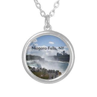 Niagara- Fallshalskette Versilberte Kette