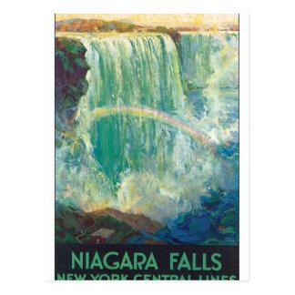 Niagra fällt Vintage Reise-Plakat-Grafik Postkarte