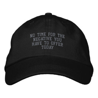 Nicht ein negatives Day_ gesticktes Hat_by Elenne Bestickte Baseballmützen