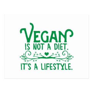 Nicht ist eine Diät vegan Postkarte