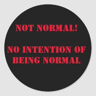 Nicht normal runder aufkleber