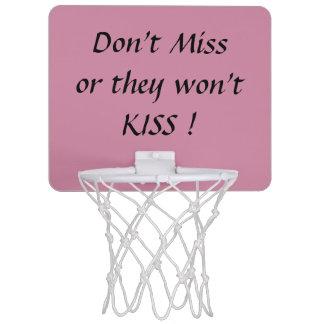Nicht tun Fräulein, oder sie KÜSSEN nicht! Mini Basketball Ringe