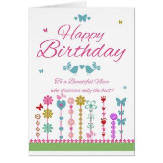 Nichten-hübsche Geburtstags-Karte mit Karte