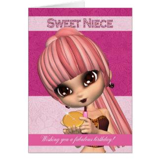 Nichten-modische Geburtstags-Mädchen-Gruß-Karte Grußkarte