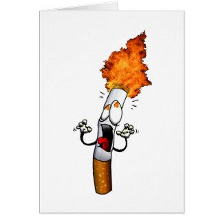 Nichtraucher Grußkarte