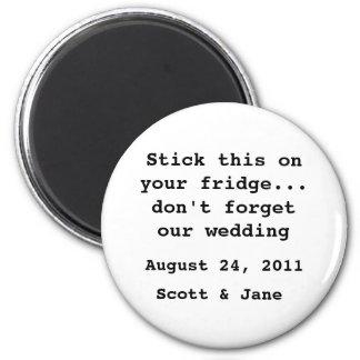 Nichts extravagante Hochzeit Runder Magnet 5,7 Cm