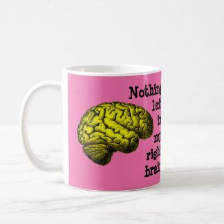 Nichts verlassen in meinem rechten Gehirn… Tasse