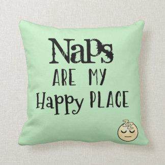 Nickerchen sind mein glücklicher Platz Kissen