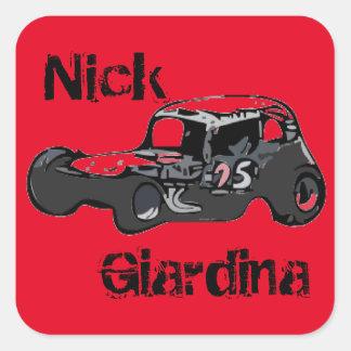 Nicky Giardina Danbury angemessenes Racearena Quadratischer Aufkleber
