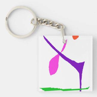 Nie Get gebohrt Schlüsselanhänger