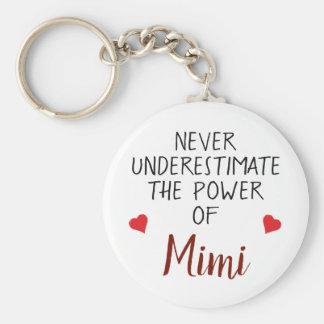 Nie Underestimate Mimi personalisiertes Keychain Schlüsselanhänger