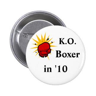 Niederlagen-Boxer Anstecknadelbutton