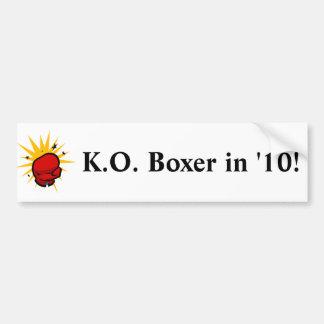 Niederlagen-Boxer Autoaufkleber