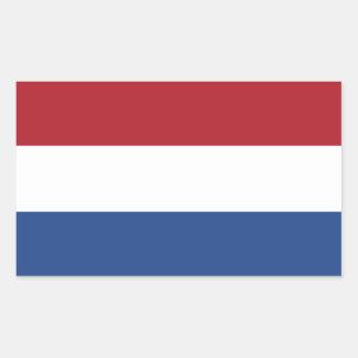 Niederländische Flagge Rechteckiger Aufkleber