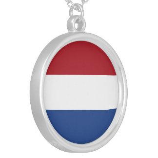 Niederländische Flagge Versilberte Kette