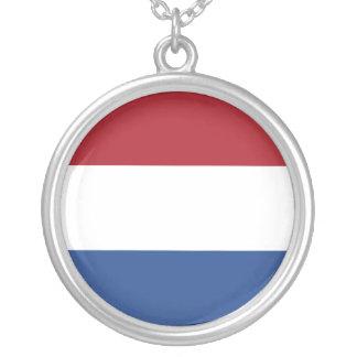 Niederländische Flaggen-Halskette Halskette Mit Rundem Anhänger