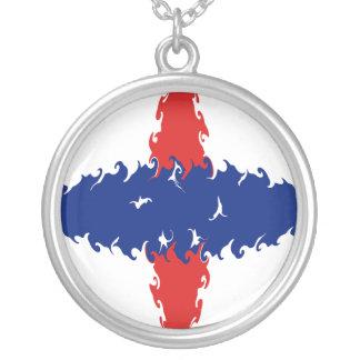 Niederländische Gnarly Flagge Antillen Halskette
