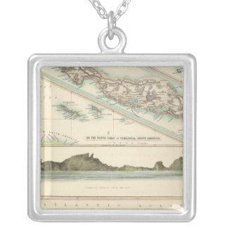 Niederländischer Besitz Halskette Mit Quadratischem Anhänger