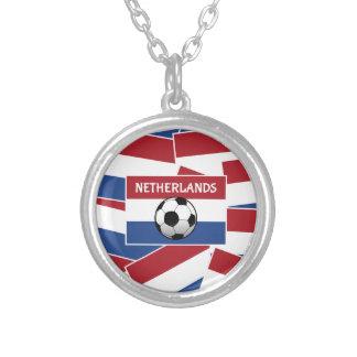 Niederländischer Flaggen-Fußball Halskette Mit Rundem Anhänger