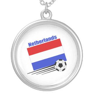 Niederländisches Fußball-Team Halskette Mit Rundem Anhänger